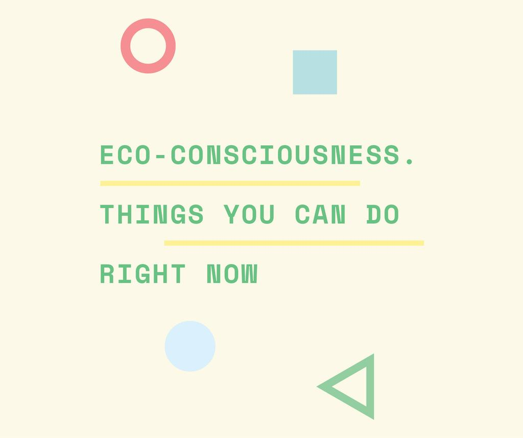 Eco-consciousness concept with simple icons — Crear un diseño