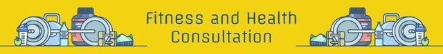 Modèle de visuel Fitness and health consultation banner - Leaderboard