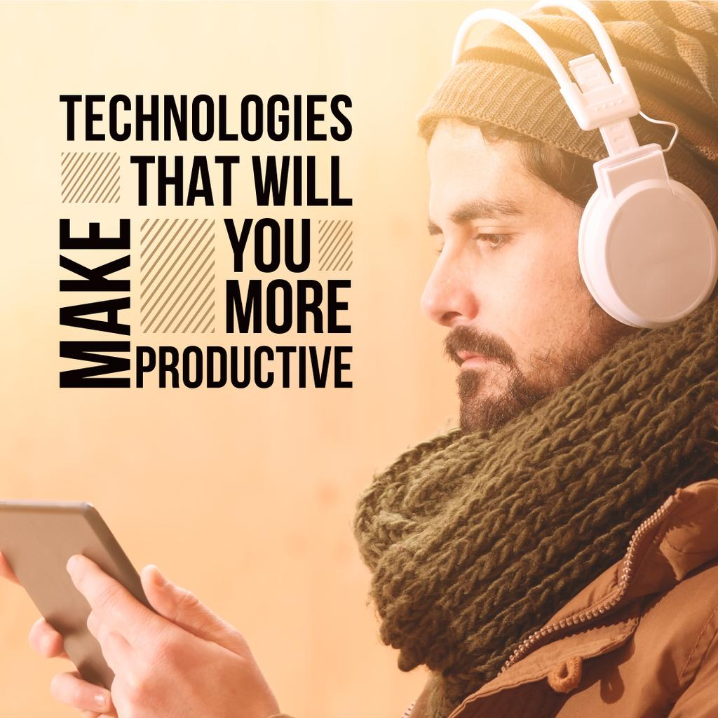 Technologies that will make you more productive poster — Crea un design