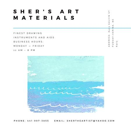 Art Material Store ad with Sea Landscape Instagram AD Modelo de Design