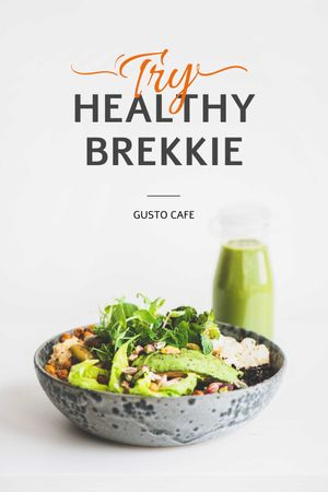 Plantilla de diseño de Healthy Breakfast with Smoothie Tumblr