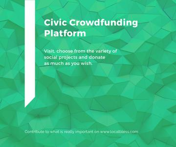 Crowdfunding Platform ad on Stone pattern