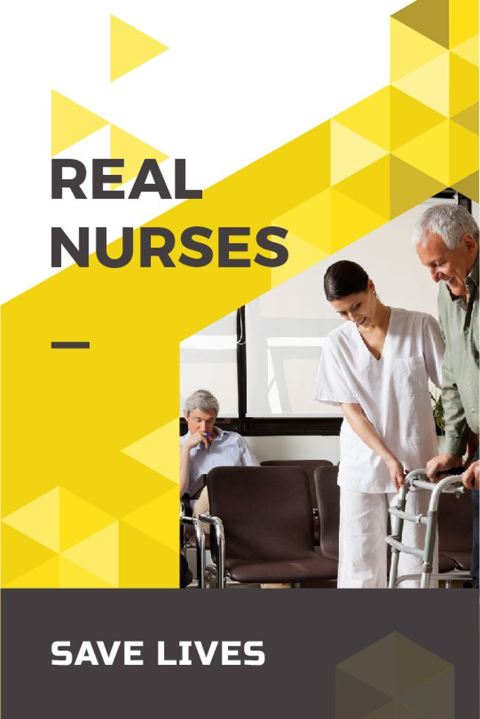real nurses save lives poster — Crear un diseño