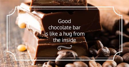 Modèle de visuel Delicious Chocolate Bars with Quote - Facebook AD