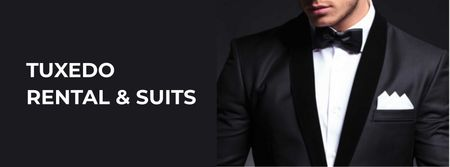 Plantilla de diseño de Stylish Man Wearing Suit Facebook cover