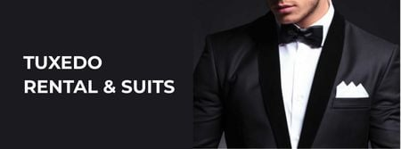 Szablon projektu Stylish Man Wearing Suit Facebook cover