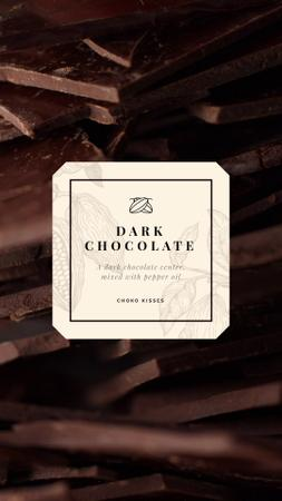 Sweet Dark Chocolate Pieces Instagram Video Story Modelo de Design