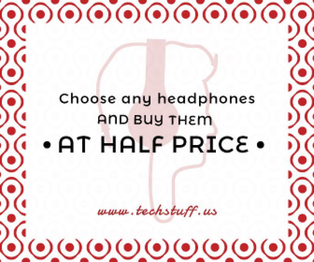 Headphones sale advertisement — Создать дизайн