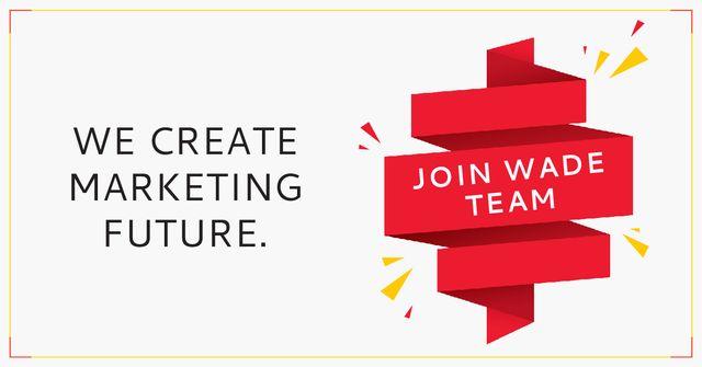 Marketing Ad on Red Ribbon Facebook AD Modelo de Design