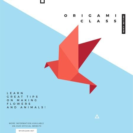 Modèle de visuel Origami class Invitation with Paper Bird - Instagram