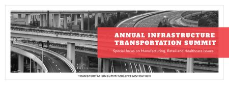 Plantilla de diseño de Annual infrastructure transportation summit Facebook cover
