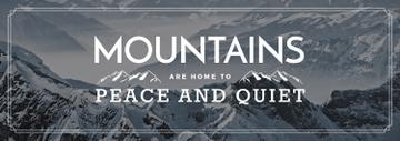 Journey Offer Mountains Icon in White | Tumblr Banner Template