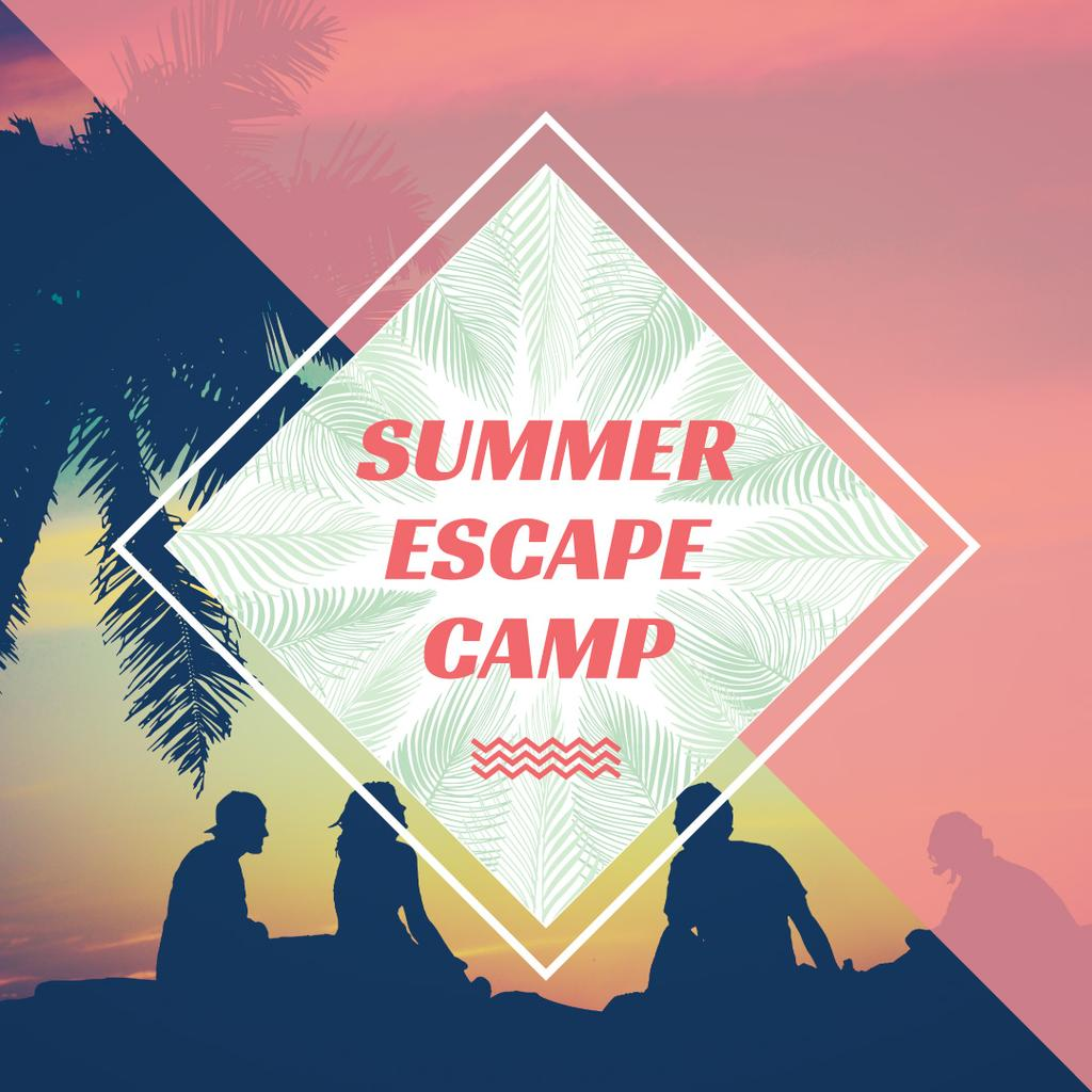 Summer escape camp poster — Create a Design