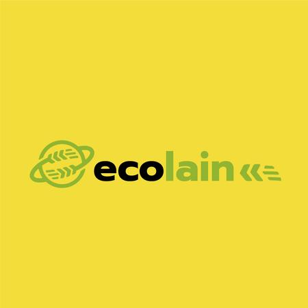 Eco Company Ad Earth with Ears Logoデザインテンプレート