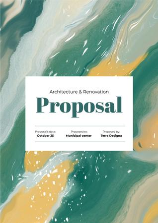 Architecture Agency projects on abstract pattern Proposal – шаблон для дизайну