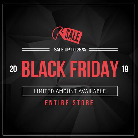 Black Friday Sale with price tag Instagram AD Modelo de Design