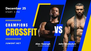 Crossfit Championship Announcement Muscular Sportsmen | Facebook Event Cover Template