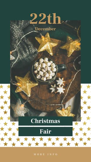 Template di design Christmas decorations and Cocoa Instagram Story