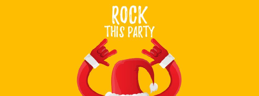 Santa showing rock sign — Create a Design