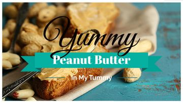 Delicious sandwich with peanut butter and text