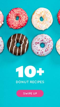 Delicious glazed Donuts Instagram Story – шаблон для дизайну