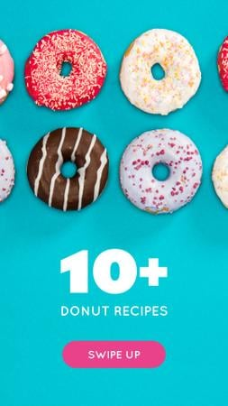 Template di design Delicious glazed Donuts Instagram Story