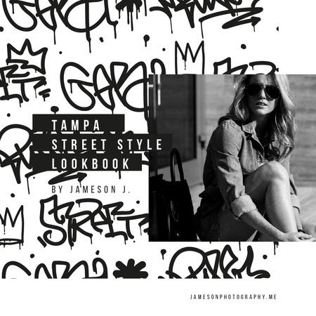 Ontwerpsjabloon van Instagram van Beautiful young girl in sunglasses