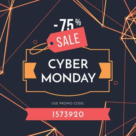 Szablon projektu Cyber Monday Sale on digital pattern Instagram AD