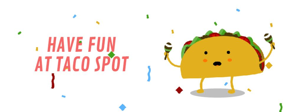 Dancing Taco with Maracas | Facebook Video Cover Template — Створити дизайн
