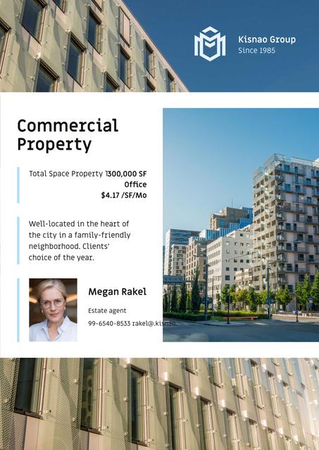 Modèle de visuel Real Estate Ad with Modern House Facade - Poster