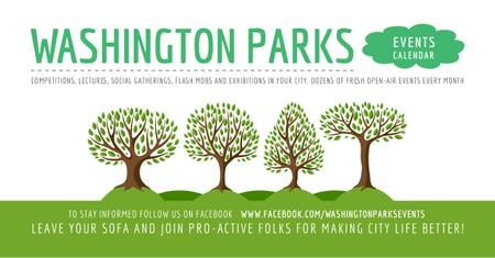 Template di design Events in Washington parks Facebook AD
