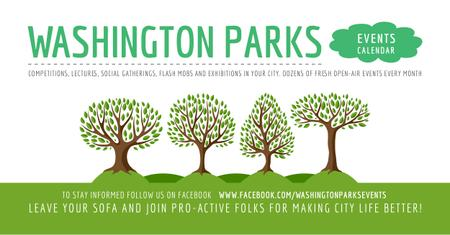 Events in Washington parks Facebook AD Modelo de Design