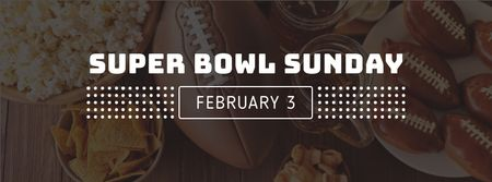 Ontwerpsjabloon van Facebook cover van Super bowl Sunday Annoucement with cookies
