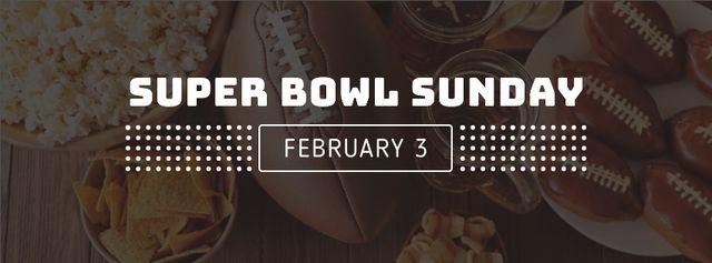 Modèle de visuel Super bowl Sunday Annoucement with cookies - Facebook cover