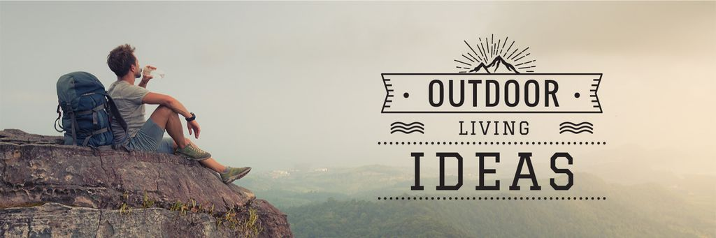 Outdoor living ideas poster — Створити дизайн