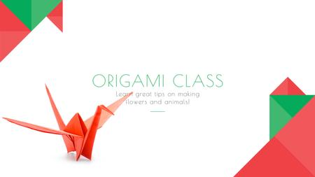 Ontwerpsjabloon van Youtube van Origami class Invitation
