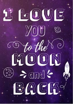 Motivational Love Quote on Night Sky