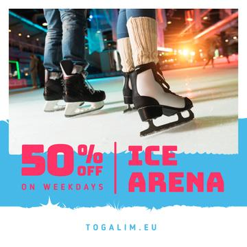 Ice Arena Offer People Skating | Instagram Ad Template