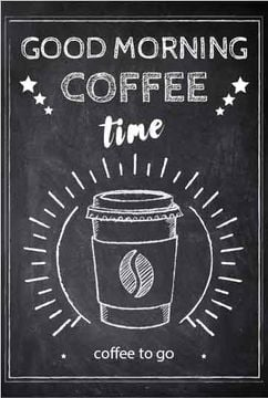 Coffee time chalk advertisement