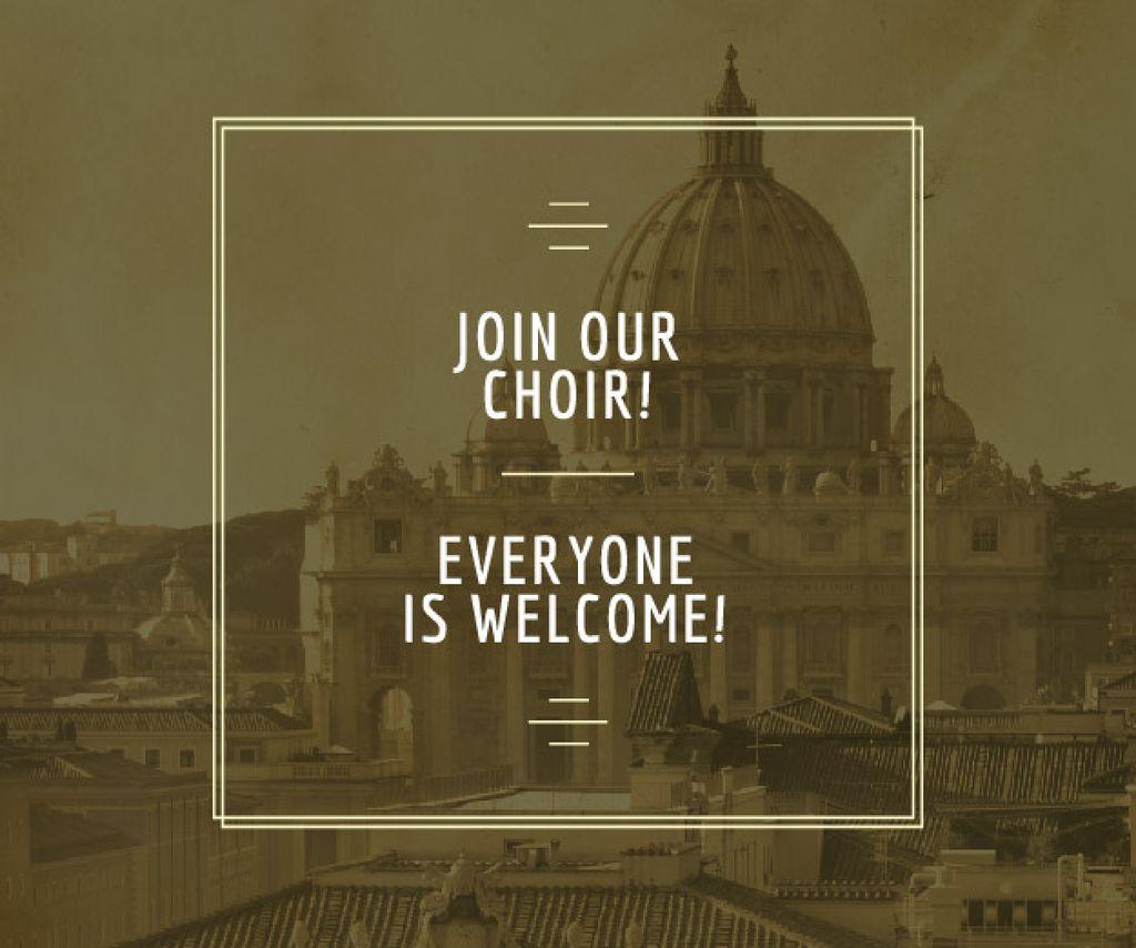 Invitation to religion choir — Créer un visuel