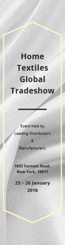 Home Textiles Event Announcement White Silk — Crear un diseño