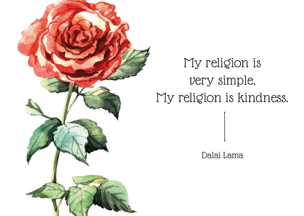Citation about very simple religion   — Maak een ontwerp