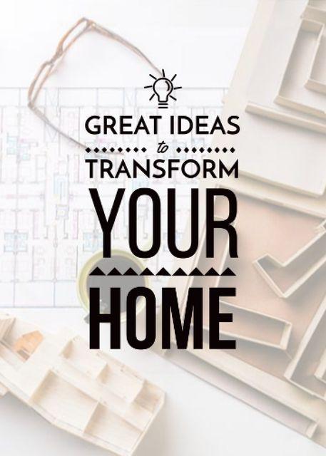 Plantilla de diseño de Tools for Home Renovation inspiration Flayer