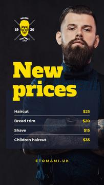 Professional bearded barber