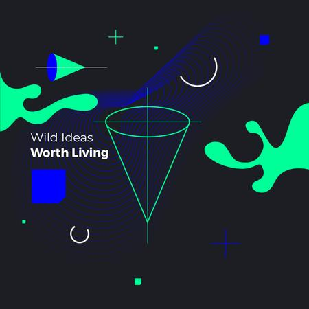 Moving geometric figures Animated Post Modelo de Design