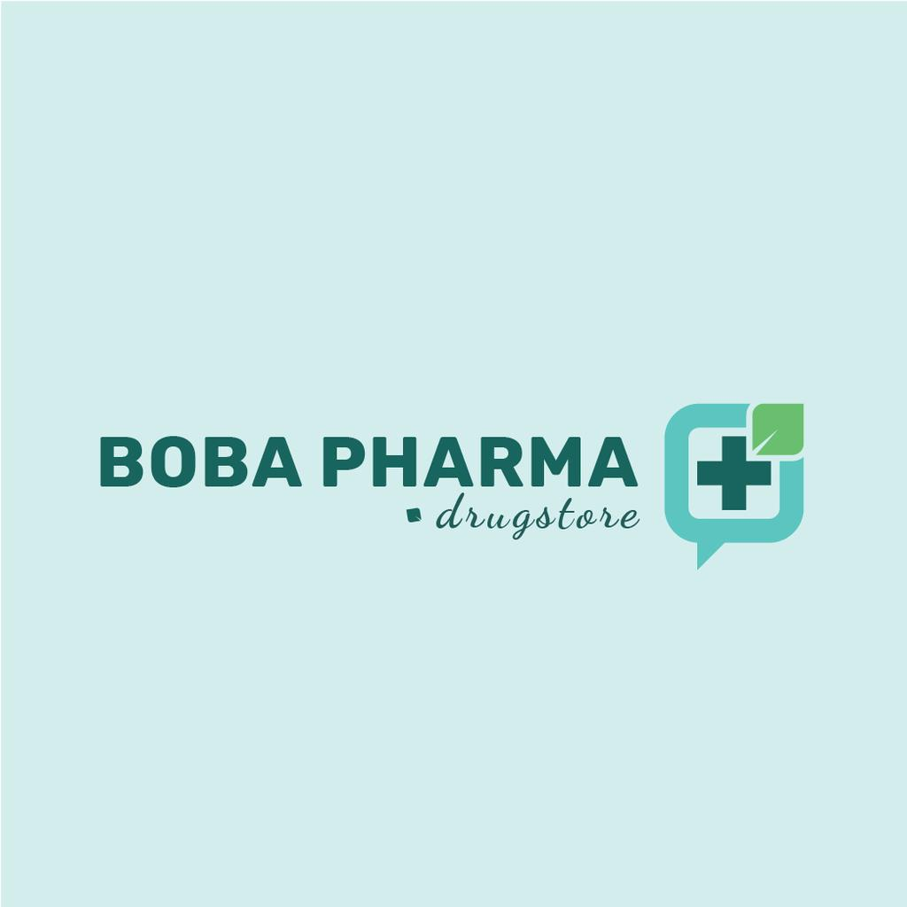 Designvorlage Drugstore Ad with Medical Cross Icon für Logo