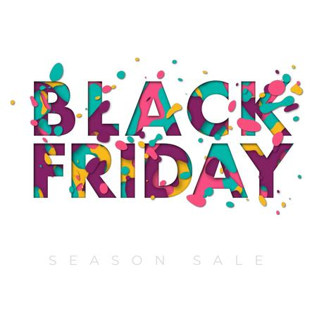 Black Friday Colourful inscription Animated Post Modelo de Design