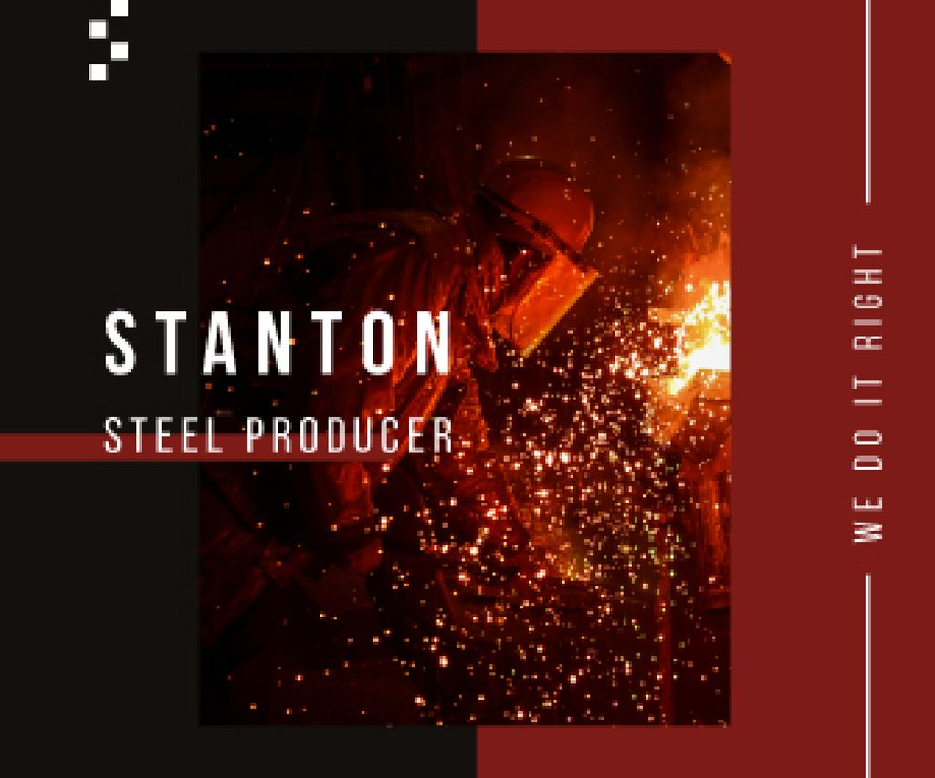 Steel Production Man Melting Metal — ein Design erstellen
