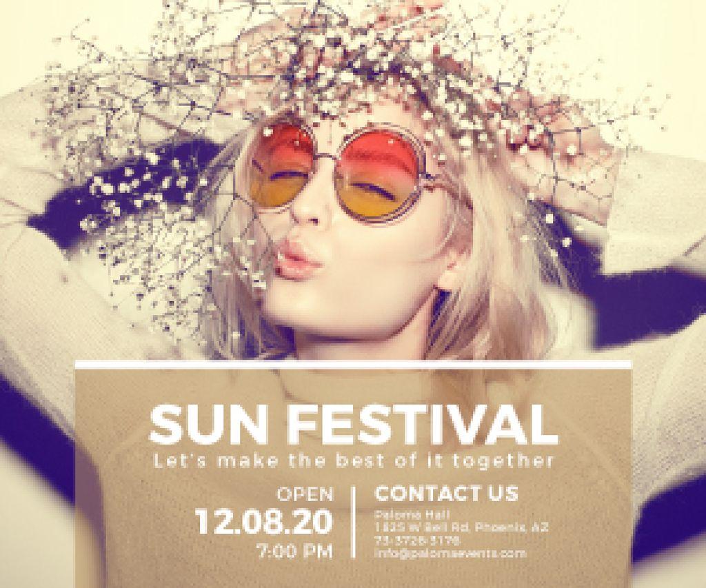 Sun festival advertisement banner — Crea un design