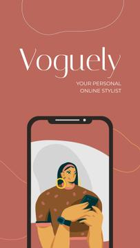 Online Stylist app promotion